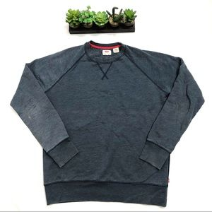 Men's Levi's Blue Heathered Sweatshirt Size M